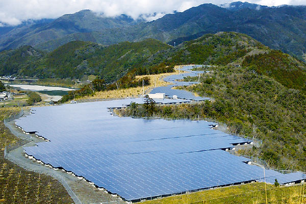 Post-mining sites are used to set up solar panels.
